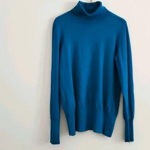 Banana Republic teal turtleneck sweater